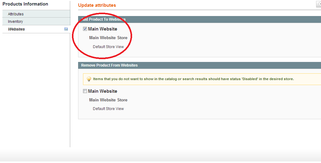 Magento search displays